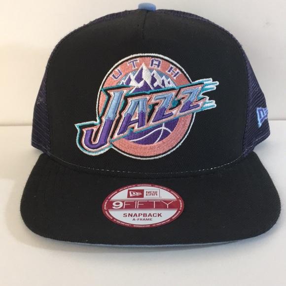 5f3400d5fcd New Era Utah Jazz SnapBack Trucker Hat Hardwood. M 5c468db93c984418ae579cb1
